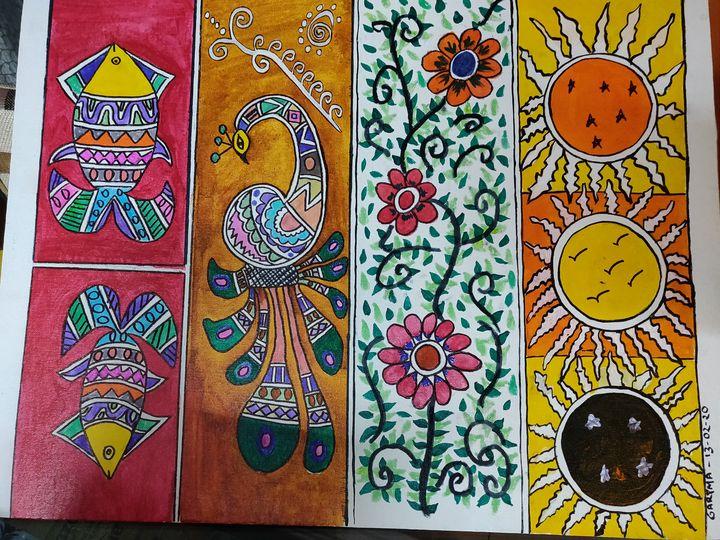Madhubani 16 - Free hand creations