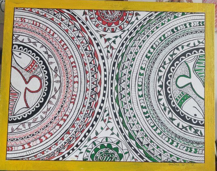 Madhubani 18 - Free hand creations
