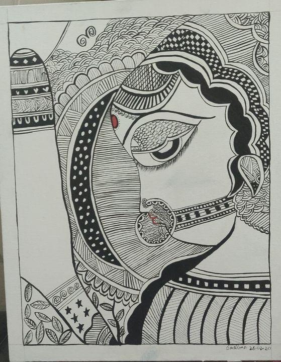 Madhubani 19 - Free hand creations