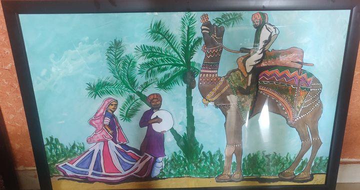 Rajasthan - Free hand creations