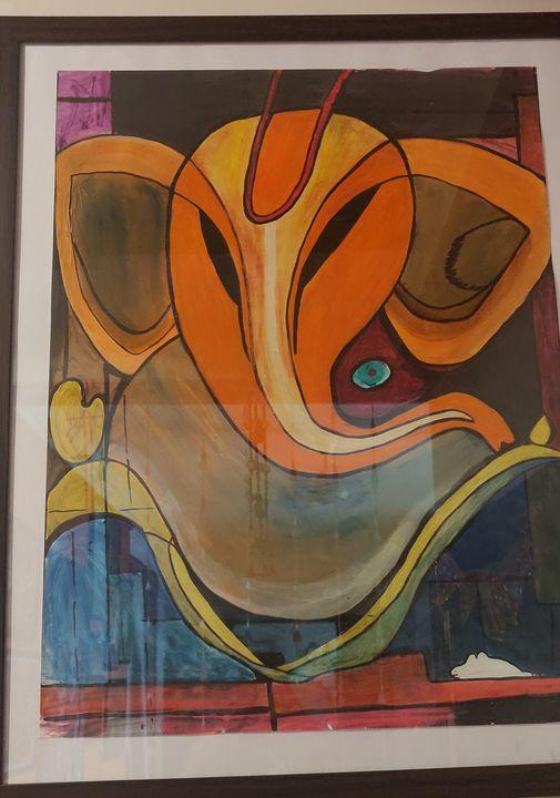 Ganesha abstract - Free hand creations