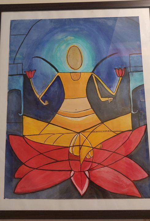 Laxmi abstract - Free hand creations