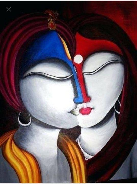 Radhe Krishna 3 - Free hand creations