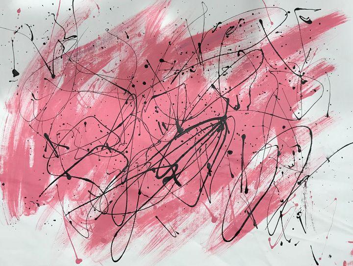 Pink and Black - DZ Art Store