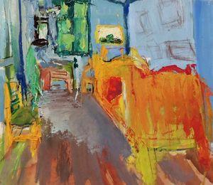 Expressionistic Van Gogh bedroom