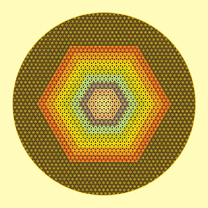 Circled cube - Art divinity