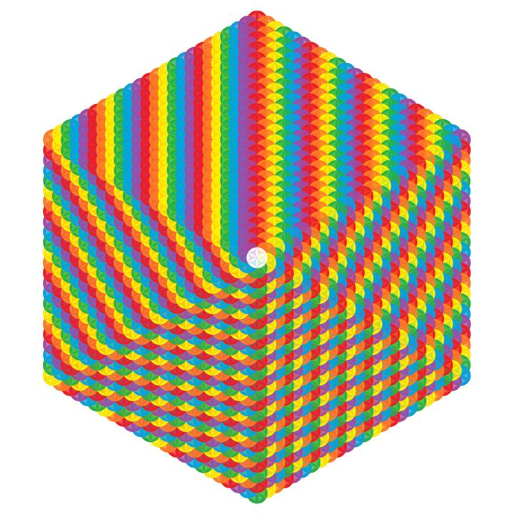 Optical world of shape and colour - Art divinity