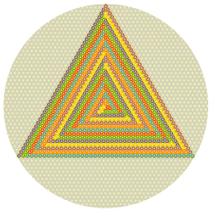The winding triangle of colours - Art divinity