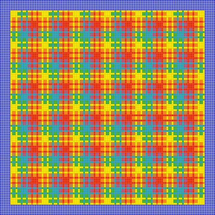 Energetic interlock mosaic - Art divinity