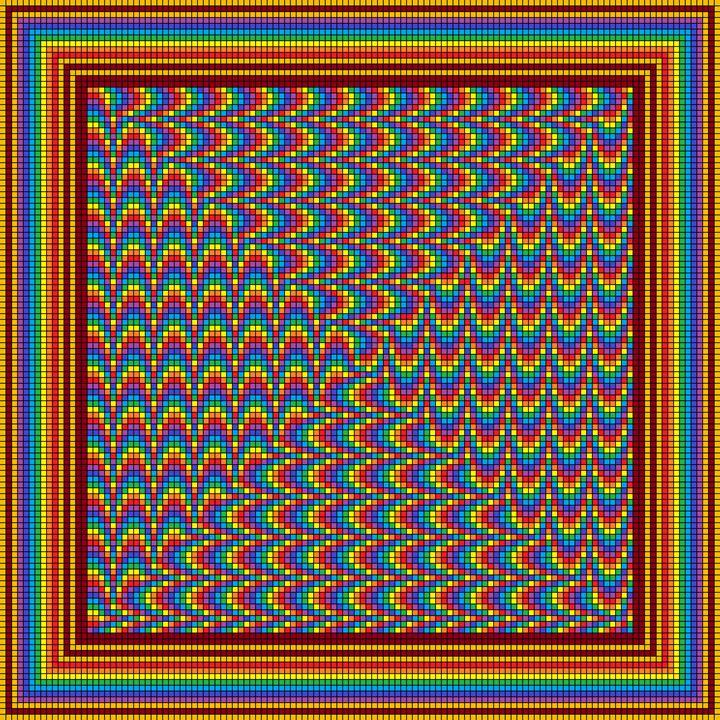 Swirling spectrum mosaic - Art divinity