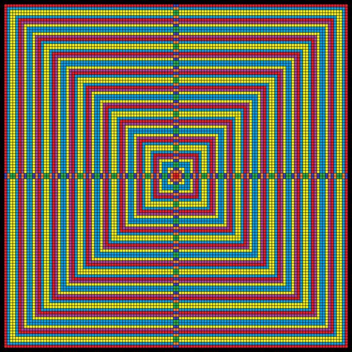 Opposing dynamics mosaic - Art divinity