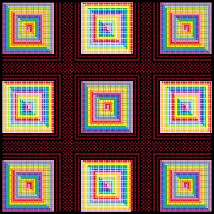 Pyramids of illusion mosaic - Art divinity