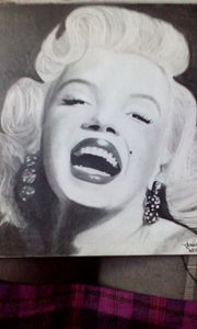 Marilyn Monroe Graphite Drawing