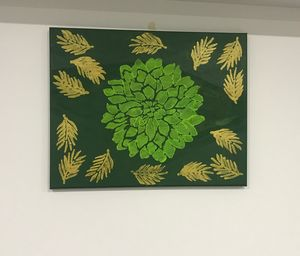 Flower and leaf painting - Anam Arts