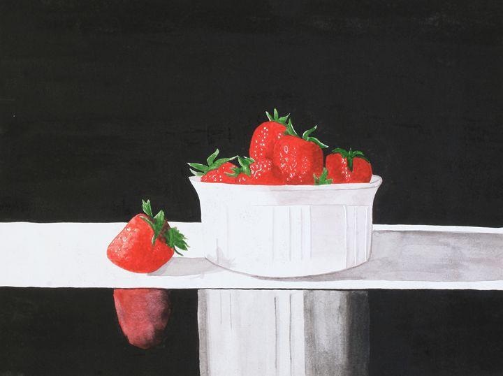 Strawberries - Watercolour
