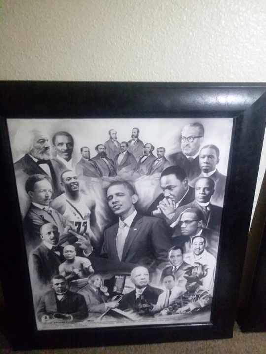"""Great African Americans"" - Men - 2 Collage Portaits of Great African Americans!"