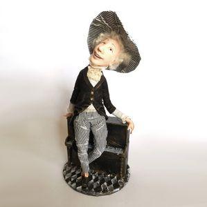 OOAK interior doll piano player