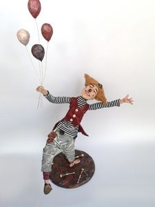 OOAK doll Clown with balloons