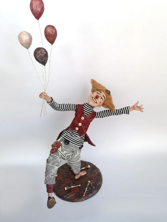 OOAK doll Clown with balloons - Sigita Dolls
