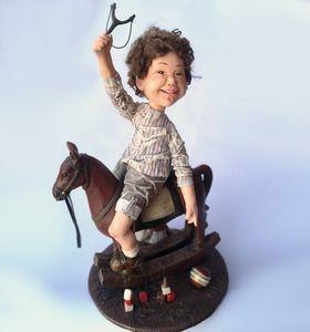 Redhair on Rocking horse