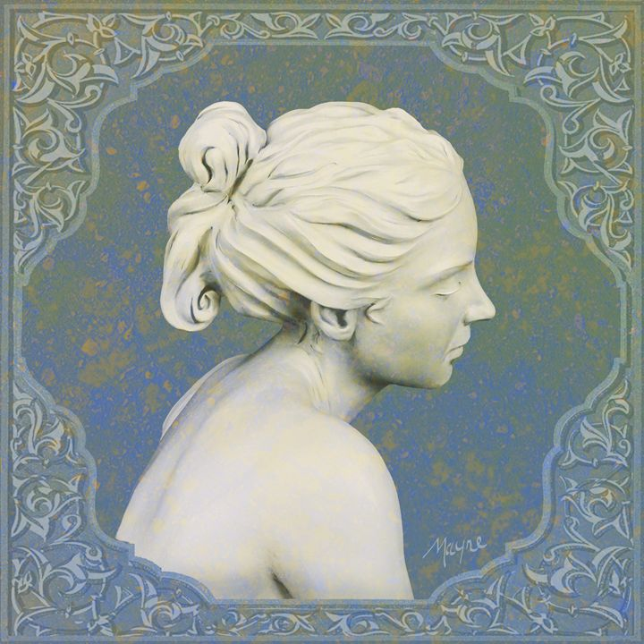 Adamaris (blue cameo) - Fine Sculpture
