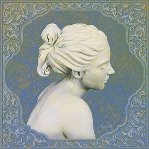 Adamaris (blue cameo) - Fine Sculpture