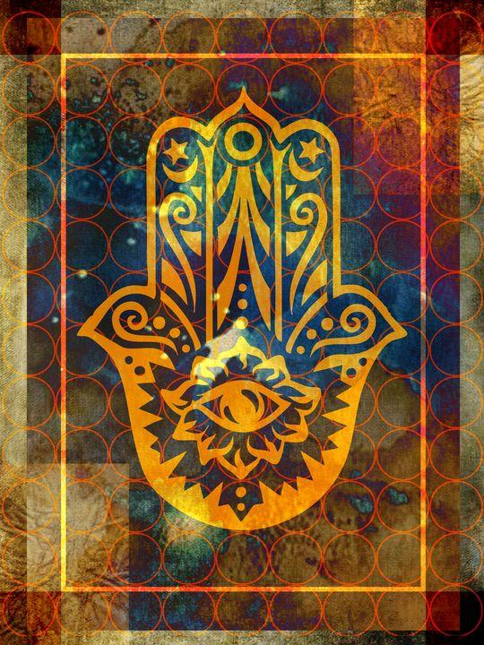 Hamsa - Hand of Strength - Illustrator01