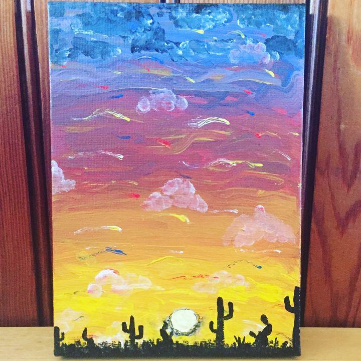 Cactus sunset - Crafty Crafting Katy