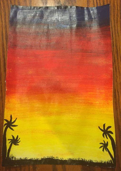 Palm tree sunset - Crafty Crafting Katy
