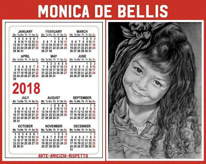 sample of drawing on a desk calendar - Monica De Bellis