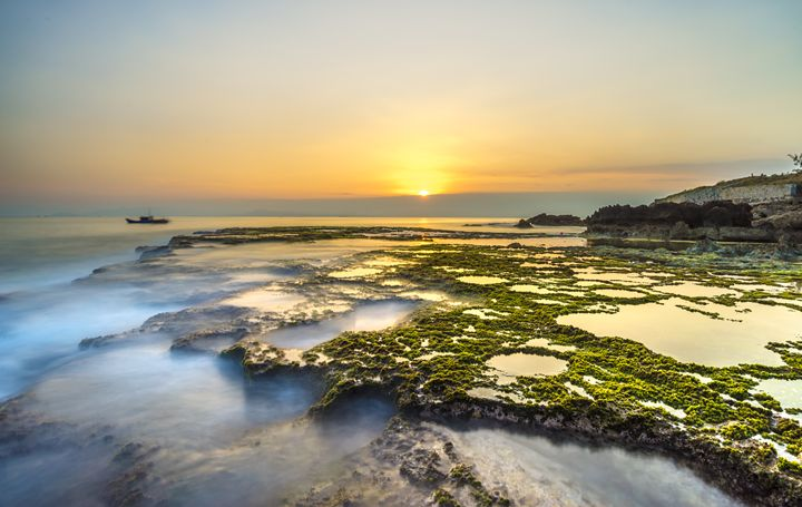 Sunset at Volcano Rocks - Vietnam beauty landscape