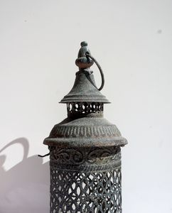 white - candle holder