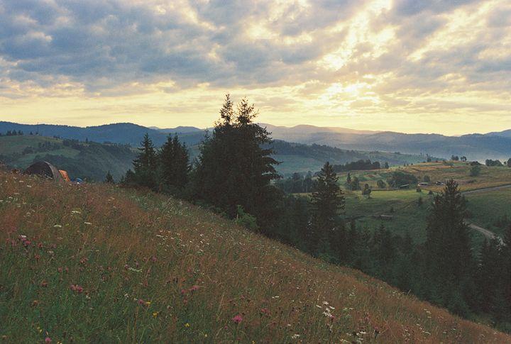 sunrise in Carpathian mountains - Anton Popov