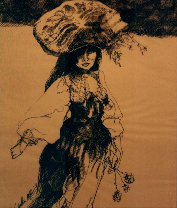 """""""Girl  in Flowered Hat.."""" - Danny Mckinney"""