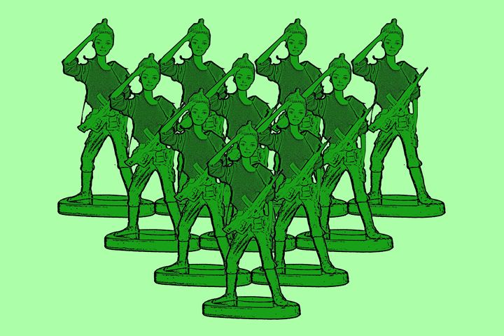 Girl Toy Soldier Army - Plastic Pam