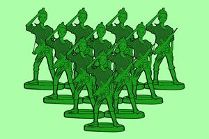 Girl Toy Soldier Army