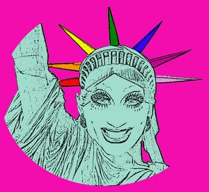 Bianca Del Rio! Cool Queer Art!