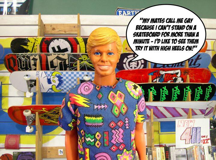 High Heel's on a Skateboard! - Plastic Pam
