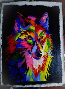 Colorful animal painting