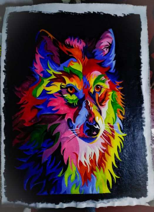 Colorful animal painting - Rambow Paints
