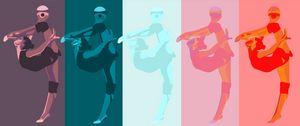 Rhythmic Gymnast - Abstract Colors