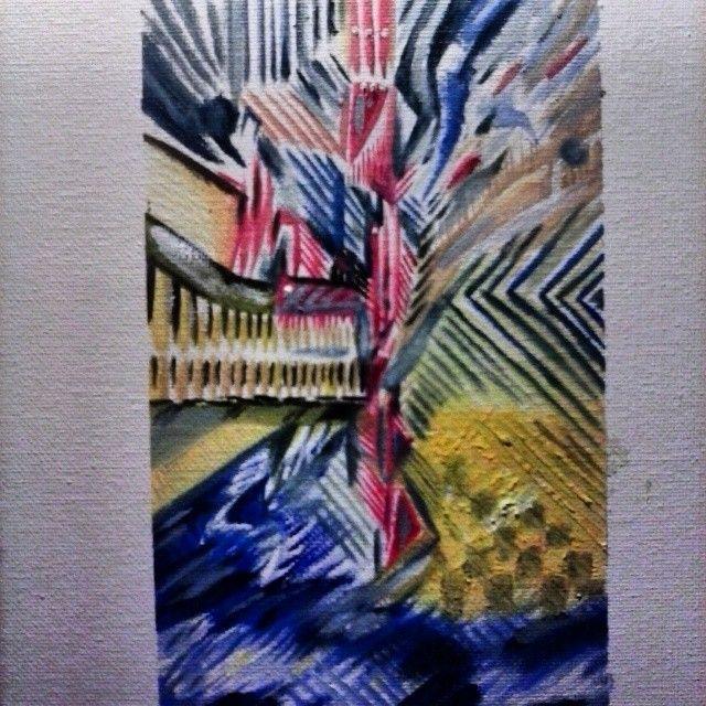 a Original Oil titled Zipper ETNART - ETNART Evan Thomas Niemann