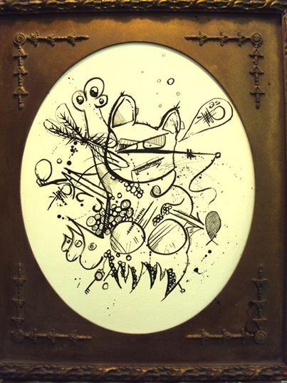 a (hand signed print) Neko the lucky - ETNART Evan Thomas Niemann