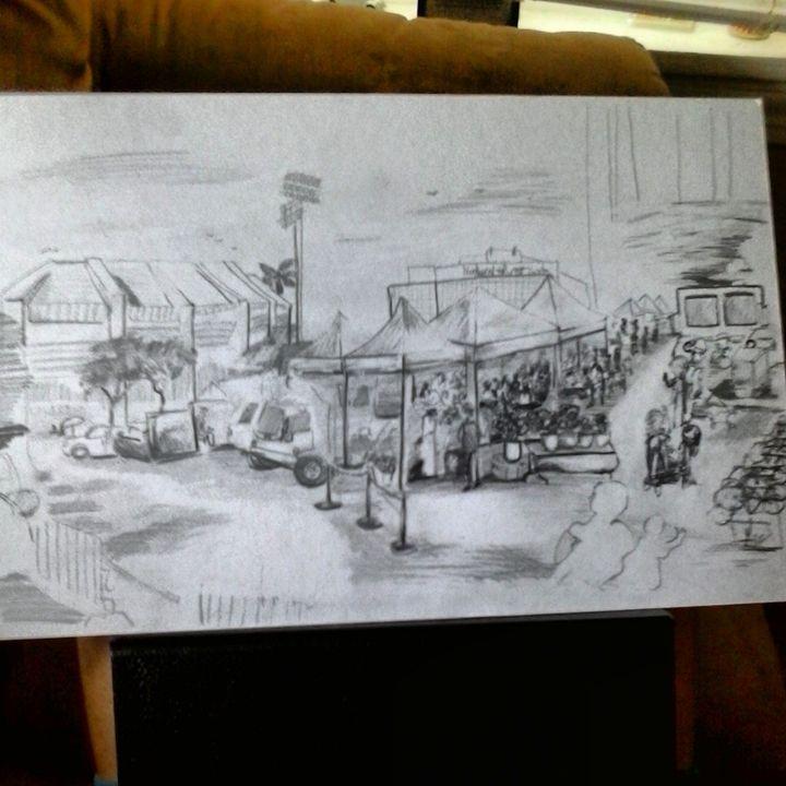 a original drawing titled saturday - ETNART Evan Thomas Niemann