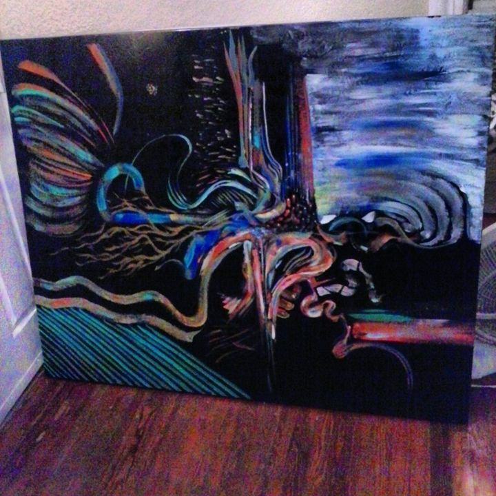 large abstract  original by Niemann - ETNART Evan Thomas Niemann