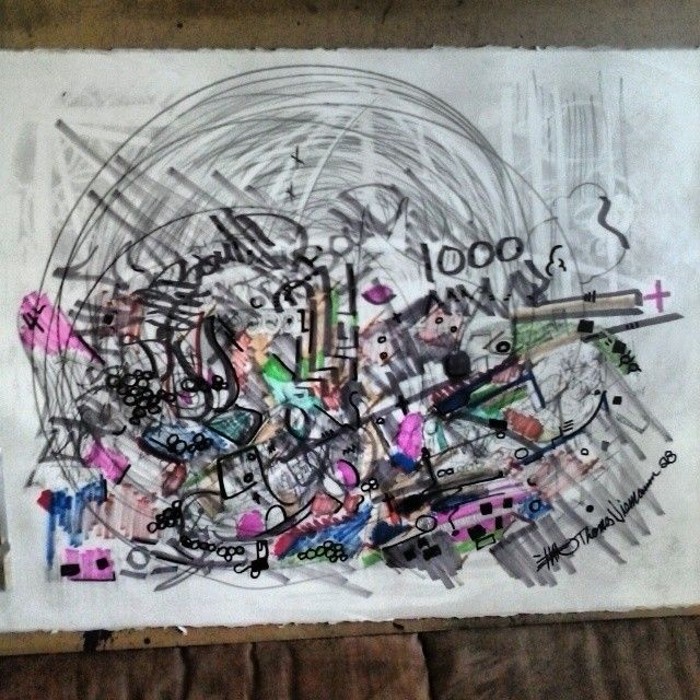 a original drawing paper titled 1000 - ETNART Evan Thomas Niemann