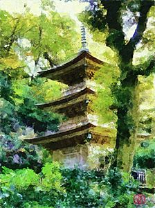 Japanese Pagoda - Cathleen Cawood