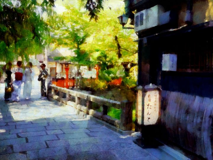 Summer in Gion - Cathleen Cawood