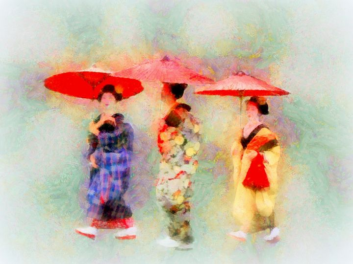 Three Little Maiko - Cathleen Cawood