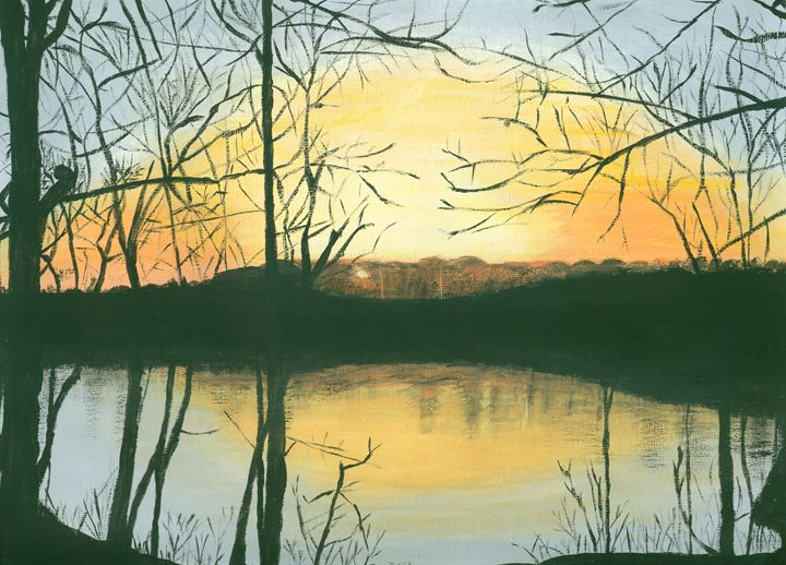 Sunset on the Tom Bigbee - Kecia Ellis